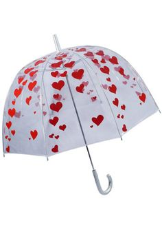 I Heart Umbrellas - Clear Bubble Umbrella-Mod Retro Indie Clothing & Vintage Clothes