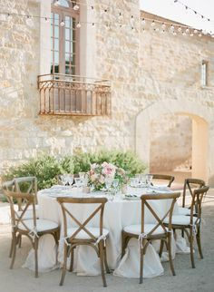 #tablescapes, #chair  Photography: KT Merry Photography - ktmerry.com  Read More: http://www.stylemepretty.com/2014/10/14/soft-romantic-summer-winery-wedding/