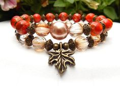 Is Autumn your favorite season? Check out this  beautiful autumn bracelet from   BlueStoneRiver.net