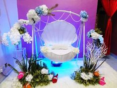 Struggling for ideas for the baby naming ceremony decoration? Remarkable cradle ceremony decoration & themes to make your little one's day memorable. Backdrop Decorations, Indian Wedding Decorations, Balloon Decorations, Birthday Decorations, Baby Shower Decorations, Flower Decorations, Naming Ceremony Decoration, Ceremony Decorations, Cradle Decoration