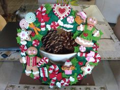 Bucilla Cookies and Candy Wreath Completed by susanmarieuponastar, $125.00