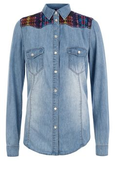 Primark SS13 Embroided Patch Denim Shirt, £12