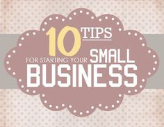 Here are some additional tips for starting your small business.  This article, found on HowToNestForLess.com, lists some essential steps for start ups that can help the process be less overwhelming. ✮ www.pinterest.com/WhoLoves/helping-small-business  ✮smallbusiness #tips