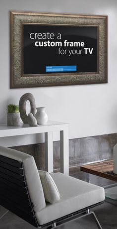 frame for TV. Love it (maybe not this particular frame, but the idea of framing the TV)