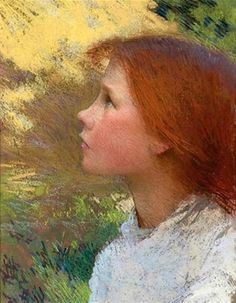 Head Of A Young Girl (Rose Grimsdale)  George Clausen