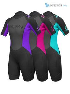 Odyssey 3mm Ladies Shorty Wetsuit Womens Shortie Wet Suit Surf Swim Spring  XS-L ef9d46124