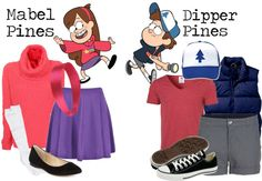 """""""Dipper Pines & Mabel Pines"""" by loveislouder800 ❤ liked on Polyvore"""
