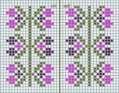 Small Cross Stitch, Cross Stitch Heart, Cross Stitch Borders, Cross Stitch Flowers, Cross Stitching, Cross Stitch Patterns, Tapestry Crochet Patterns, Bead Loom Patterns, Knitting Machine Patterns