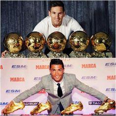 -Futbolista con más Balones de Oro en TODA la historia. -Futbolista con más Botas de Oro en TODA la historia.