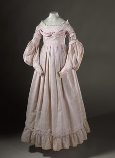Girl's Dress United States, circa 1837 Costumes; principal attire (entire body) Printed cotton | LACMA Collections