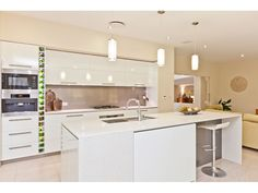 Modern kitchen-living kitchen design using marble - Kitchen Photo 313425