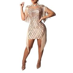 2019 Summer Sexy Bodycon Dress Women Tassel Sequined Bandage Dress Hollow Out Club Mini Party Dress Vestido Pool Party Dresses, Vegas Dresses, Club Dresses, Cheap Dresses, Sexy Dresses, Casual Dresses, Long Dresses, Nyc, Short Mini Dress