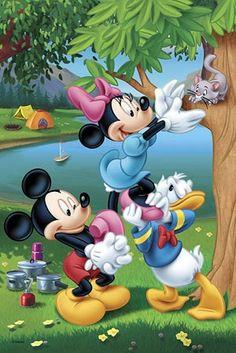 Disney Mickey & Minnie Mouse & Don . Mickey And Minnie Love, Minnie Mouse, Mickey Mouse Cartoon, Mickey Mouse And Friends, Walt Disney, Disney Art, Disney Pixar, Retro Disney, Disney Love
