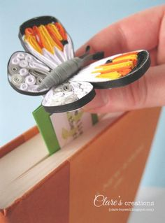 Quilled Butterfly Bookmark by cbuswell - Cards and Paper Crafts at Splitcoaststampers