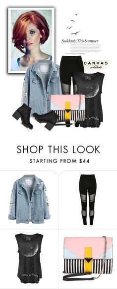 """""""welcome to the 90's"""" by annedenmark on Polyvore featuring Lands' End, River Island and Iceberg"""