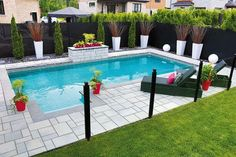 Backyard pools landscaping 50 Gorgeous Small Swimming Pool Ideas for Smal. - Backyard pools landscaping 50 Gorgeous Small Swimming Pool Ideas for Small Backyard - Backyard Pool Landscaping, Backyard Pool Designs, Small Backyard Landscaping, Pool Fence, Backyard Pergola, Landscaping Ideas, Small Backyard With Pool, Pergola Roof, Pergola Kits