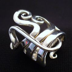 Solid Sterling Silver Real Fork Ring Size 5 to 16 by forkwhisperer, $149.00    Amazing jewelry artist - gotta love the name - The Fork Whisperer!!