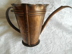 small Hammered Copper Pitcher #342 Craftsman Company 5 inches tall