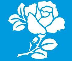 Stencil de Rosa 10 x 10cm - STX - 031 - Stencil 10 x 10cm ...: