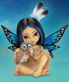 This Jasmine Becket-Griffith Native American-inspired fairy figurine is an enchanting way to bring the mystical wisdom of owls into your home!