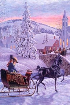 An Old Fashioned Christmas Painting by Richard De Wolfe