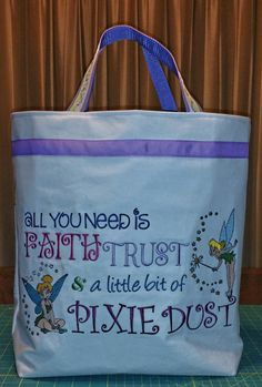 Tinkerbell bag-front view~definitely one of my favorites!