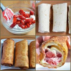 Strawberry Cheesecake Chimichangas! MUST MUST TRY!