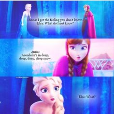Elsa's face! I just love how she wasn't bad! Genuinely concerned