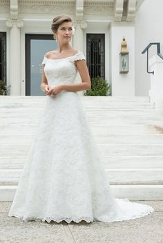 The extensive Venus Bridal collection of more than 300 dresses is now available for ordering at Catwalk Their wedding dresses offer something every bride, from sleek & sophisticated to traditional styles. A Line Bridal Gowns, Bridal Wedding Dresses, Dream Wedding Dresses, Wedding Attire, Lace Wedding, Perfect Wedding Dress, One Shoulder Wedding Dress, Bustier, Lace Sleeves