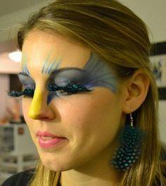 amazing bird makeup!