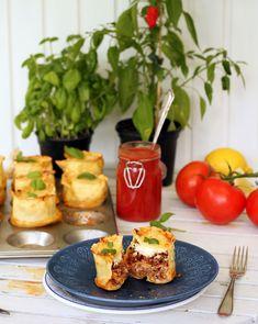 Lasagnemuffins | Fridas Bakblogg Food And Drink, Tasty, Dessert, Vegetables, Cooking, Kitchen, Cuisine, Koken, Postres