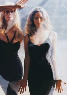 Christy Turlington & Claudia Schiffer in VERSACE 1993