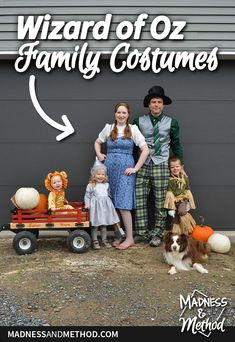 Looking for family Wizard of Oz costumes? Check out how everyone is dressed for tips & ideas on what to wear (or buy) for your group costume. Family Costumes, Group Costumes, Wizard Of Oz, Outdoor Projects, Madness, Posts, Check, Tips, Blog