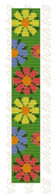Hobby World ( бисероплетение ) Bead Crochet Patterns, Peyote Patterns, Weaving Patterns, Cross Stitch Patterns, Loom Bracelet Patterns, Bead Loom Bracelets, Cross Stitch Bookmarks, Tapestry Crochet, Cross Stitch Flowers