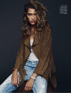 Elle Spain January 2015 | Ana Beatriz Barros by Xavi Gordo #GerardDarel #Bulgari #AnaBeatriz