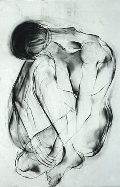 Drawing by Carmel Jenkin  Yearning, Charcoal on paper, 81cm x 57cm