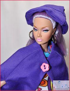 """https://flic.kr/p/WLwCvj   Mood Changers   Poppy from the Mood Changers set wearing 2016 National Barbie Doll Collectors Convention """"Purple POP!"""" fashion designed by Judy O'Connell."""