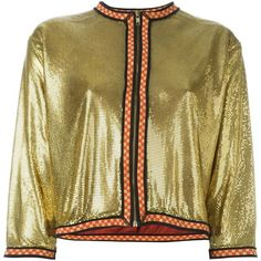 Jean Paul Gaultier Vintage Chainmail Effect Jacket ($2,363) ❤ liked on Polyvore featuring outerwear, jackets, cropped jacket, chainmail jacket, summer jackets, jean-paul gaultier and collarless jacket