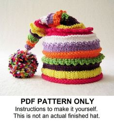Knit Hat Knitting Pattern - Stocking Hat Pattern - Knitted Hat Pattern - the LUCY Hat (Newborn Baby Toddler Child & Adult sizes incld) on Etsy, $5.50