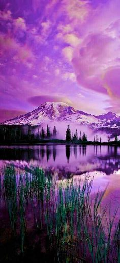 """Purple Mountain Majesty *****Have always """"heard"""" those words, but actually never knew what they meant until, I saw a Sunset in the Beautiful State of ......Montana............"""