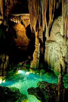 "Luray Caverns was discovered in 1878 by a tinsmith and a local photographer.   It is found in Virginia's Shenandoah Valley and is a U.S. Natural Landmark.  This is a picture of ""dream lake""."