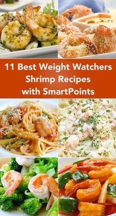 11 Weight Watchers Shrimp Recipes with Smart Points including Shrimp Scampi Coconut Shrimp Kabobs Hunan Shrimp Baked Shrimp Kung Pao Shrimp and more! Ww Recipes, Low Calorie Recipes, Shrimp Recipes, Cooking Recipes, Healthy Recipes, Sausage Recipes, Mexican Recipes, Family Recipes, Recipes Dinner