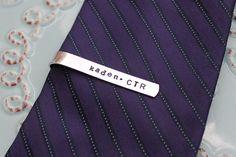 Hand Stamped Personalized Child Size Tie Bar by PoppyChicJewelry, $17.00.......... #jedshead idea