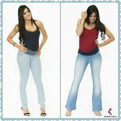 O jeans com lavagem clara está em alta nesta estação. Para a gestante, o tecido é mais macio e o cós protege e dá conforto à barriga.  Para um visual despojado combine com bata, tênis ou sapatilha. Lindo e Moderno!❤️🌸  Venha conferir na loja online: www.gestantefashion.com.br Whats: (11) 96621-0287