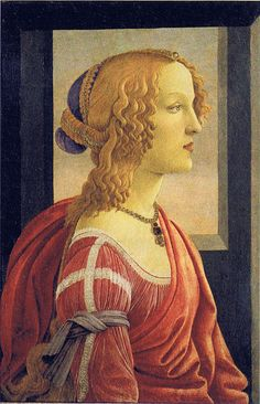 Sandro Botticelli - La bella Simonetta    La bella Simonetta means Simonetta Vespucci, a beautiful young Florentine Noble-Lady, who had been painted several times by Botticelli and other painters like Piero di Cosimo.  The present painting from the Marubeni-Collection in Tokyo exists in a very similiar copy from a follower of Botticelli (London, National Gallery).  by petrus.agricola, via Flickr
