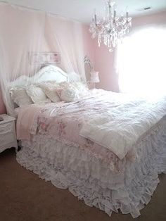 Shabby Chic--mark would kill me if I did this to our bedroom but maybe I can get away with a guestroom
