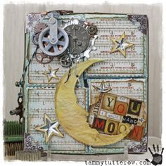 Tammy Tutterow: CHA Tim Holtz Idea-ology and Sizzix- For You I Would Hang the Moon
