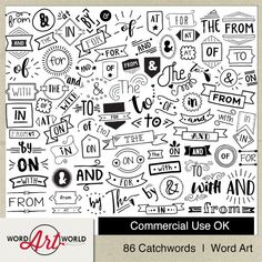 65 Best Word Art World on Etsy images in 2019 | Digital