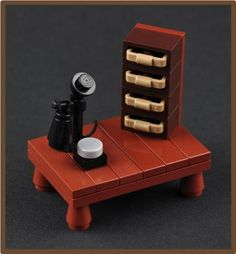 The Telephone (H. P. Lovecraft's Study) | ReBrick | From LEGO Fan To LEGO Fan
