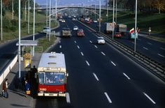 Warszawa 1979 - Berliet linii 188 na Trasie Łazienkowskiej